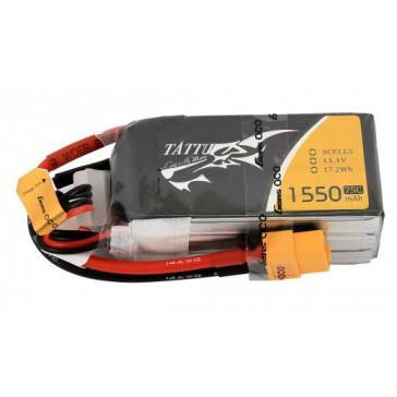 LiPo 3S1P 11,1V 1550mAh 75C 72x33x26mm 135.6g (XT-60) for FPV