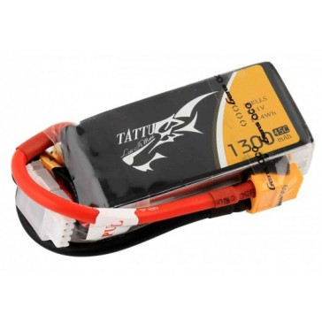 LiPo 4S1P 14,8V 1300mAh 45C 73x32x28mm 146g (XT60) for FPV