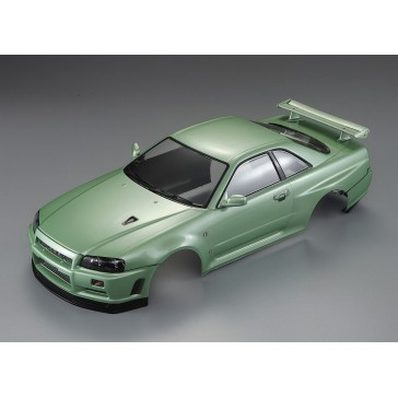 Nissan Skyline R34 195mm, champaign-green finished, RTU all-in