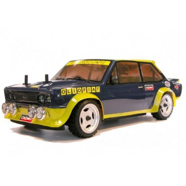 DISC.. FIAT 131 ABARTH Oliofiat 1981 1/10 RC car RTR Kit  with Lights