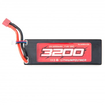 Set of 2x Lipo Battery 7.4V 2s 3200 mAh (T-plug)