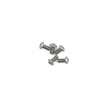 Titanium Button Head Hex Screws M3 x 6 pk10