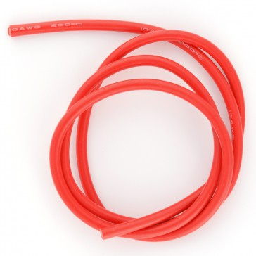 Fil silicone  10AWG (5,27mm²) rouge - 1m