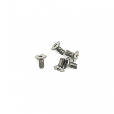 Titanium Csk Hex Screws M4 x 8 pk10