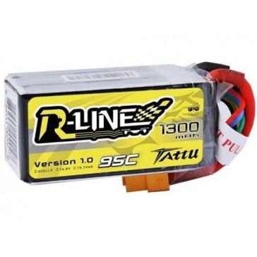 LiPo 4S1P R-Line 14,8V 1300mAh 95C 76x35x30mm 164g (XT-60)
