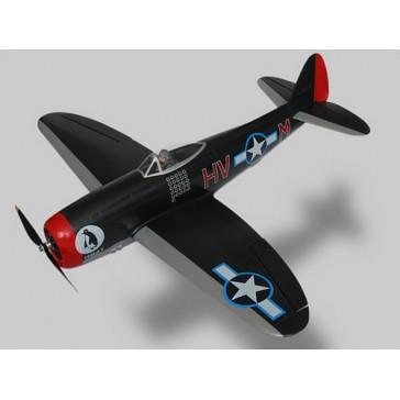 DISC.. DISC... ALFA MODEL P-47D THUNDERBOLT (BLACK)