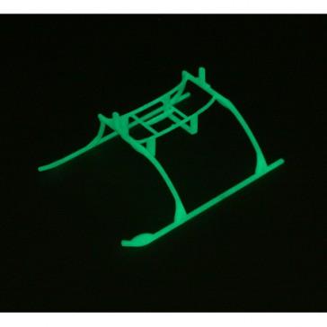 DISC.. Landing Skid & Batt Mnt Set: Glow in the Dark:BMCX