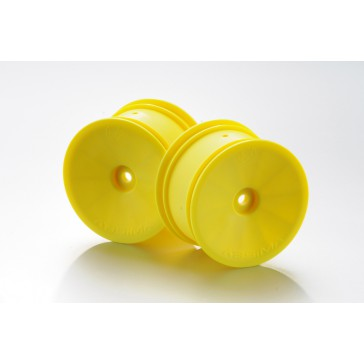 DISC.. 1:10 Off-Road 4WD racing rear rims 14mm yellow (2)