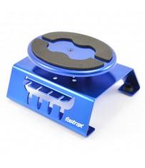 BLUE ALUM LOCKING ROTATING CAR MAINTENANCE STAND w/MAGNET