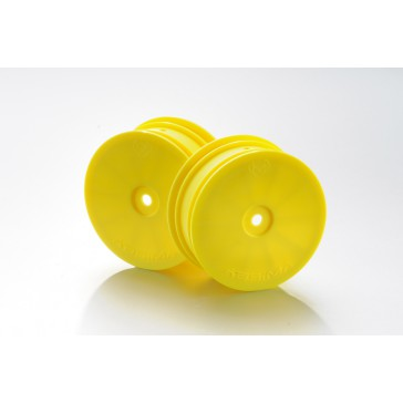DISC.. 1:10 Offroad 4WD racing jantes 14mm avant jaune (2)