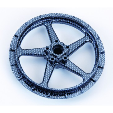DISC.. Front Wheel Carbon Look