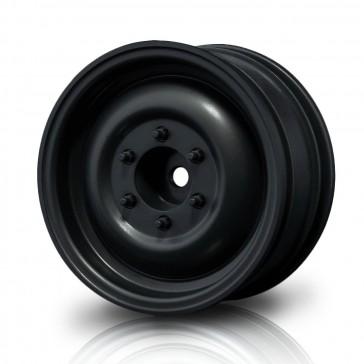 "Black flat 60D 1.9"" crawler wheel (+5) (4)"