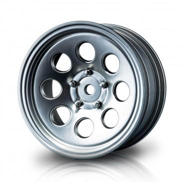"Flat silver 58H 1.9"" crawler wheel (+5) (4)"