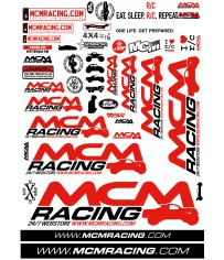 MCM Racing - Stickers Sheet 2017