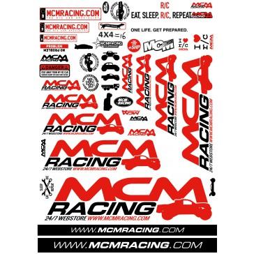MCM Racing - Stickers Sheet 2017