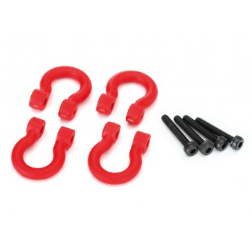 Bumper D-rings, red (front or rear)/ 2.0x12 CS (4)