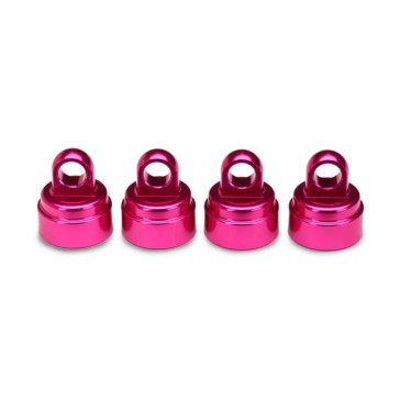 Shock caps, aluminum (Pink-an odized) (4) (fits all Ultra Sh