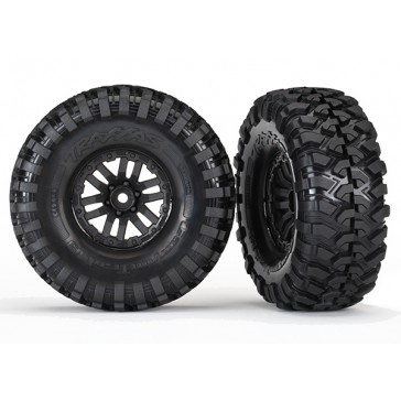 Tires and wheels, assembled, glued (TRX-4 wheels, Canyon Tra