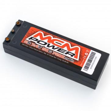 Hard case 50C 7200mAh 2S 7,4V  (4mm integrated)