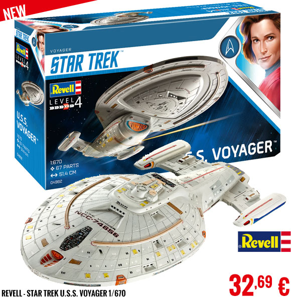 New - Revell - Star Trek U.S.S. Voyager 1/670