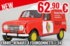 New - Ebbro - Renault 4 Fourgonnette 1/24