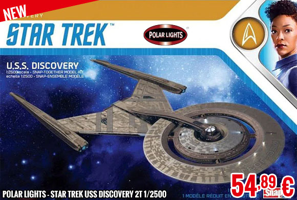 New - Polar Lights - Star Trek USS Discovery 2T 1/2500