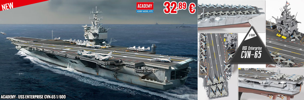 New - Academy - USS Enterprise CVN-65 1/600