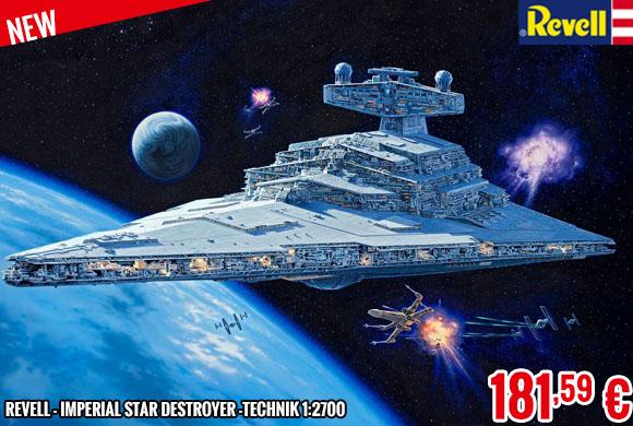 New - Revell - Imperial Star Destroyer -Technik 1:2700