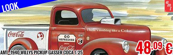 New - AMT - 1940 Willys Pickup Gasser Coca 1/25