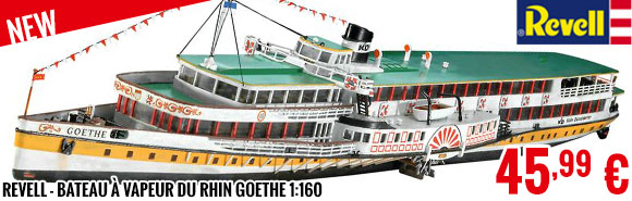 New - Revell - Bateau à vapeur du Rhin GOETHE 1:160