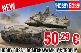 New - Hobby Boss - IDF Merkava Mk IV & Trophy 1/35