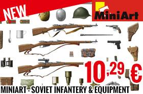 New - MiniArt - Soviet Infantery & Equipment 1/35