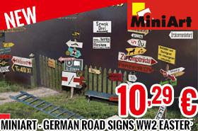 New - MiniArt - German Road Signs WW2 Easter 1 1/35