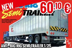 New - AMT - Big Rig Semi Trailer 1/25