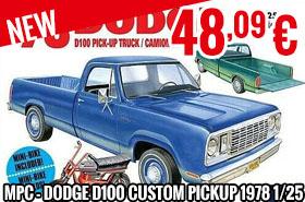 New - MPC - Dodge D100 Custom Pickup 1978 1/25