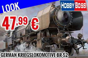 Look - Hobby Boss - German Kriegslokomotive BR-52 1/72