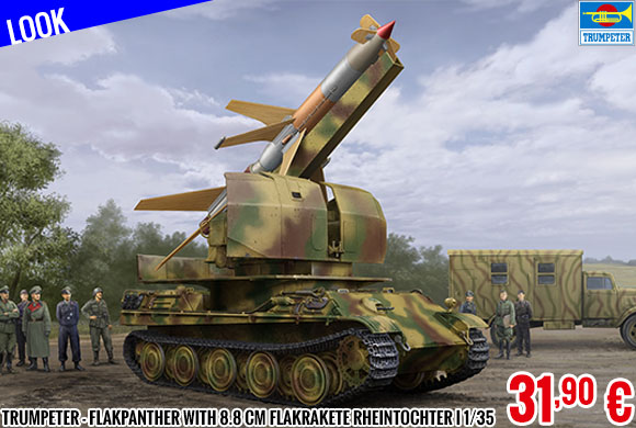 Look - Trumpeter - Flakpanther with 8.8 cm Flakrakete Rheintochter I 1/35