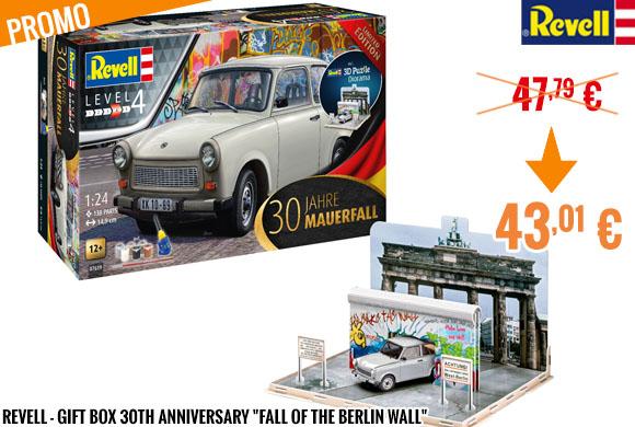 Promo - Revell - Coffret 30 ans de la chute du mur de Berlin avec Trabant