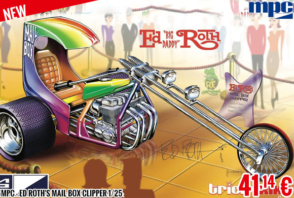 New - MPC - Ed Roth's Mail Box Clipper 1/25