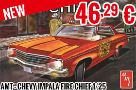 New - AMT - Chevy Impala Fire Chief 1/25