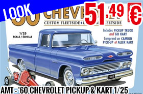 Look - AMT - '60 Chevrolet Pickup & Kart 1/25