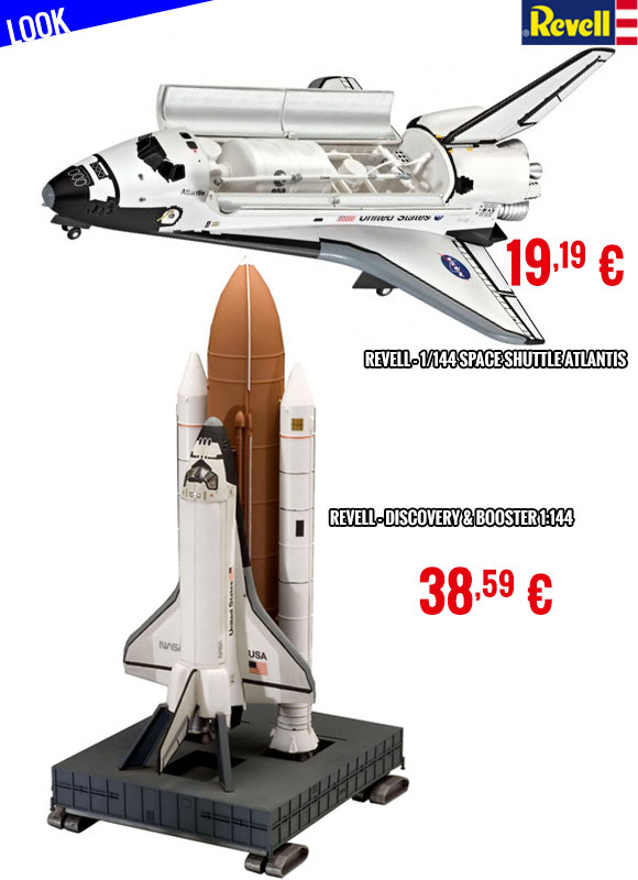 Look - Revell Space Shuttle Atlantis & Discovery