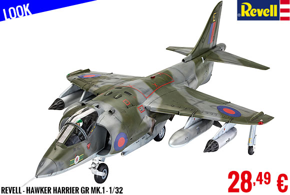Look - Revell - Hawker Harrier GR Mk.1 1/32