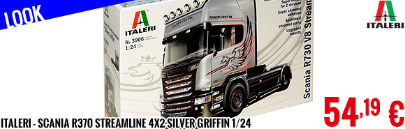 Look - Italeri - Scania R370 Streamline 4x2 Silver Griffin 1/24