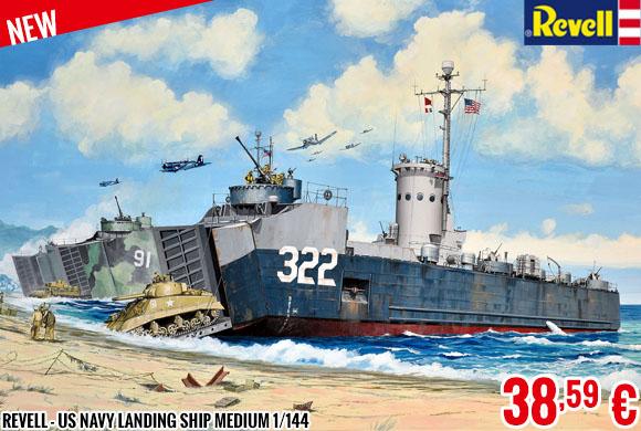 New - Revell - US Navy Landing Ship Medium 1/144