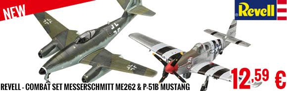 New - Revell - Combat Set Messerschmitt Me262 & P-51B Mustang
