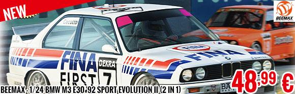 New - Beemax - 1/24 BMW M3 E30 '92 Sport Evolution II (2 in 1)