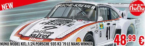New - Nunu Model Kit - 1/24 Porsche 935 K3 '79 Le Mans Winner