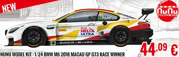 New - Nunu Model Kit - 1/24 BMW M6 2018 Macau GP GT3 Race Winner