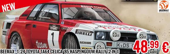 New - Beemax - 1/24 Toyota Ta64 Celica '85 Haspengouw Rally (2 in 1)
